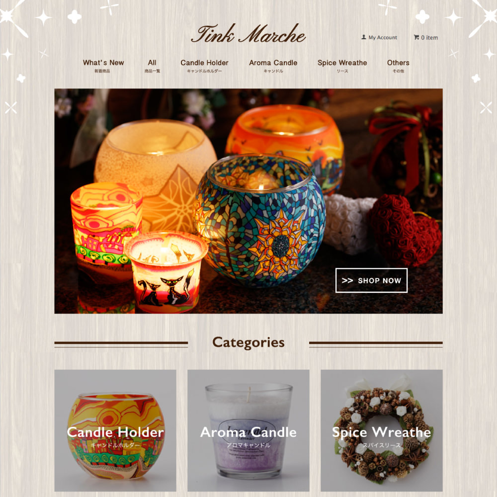 Tink Marche 通販ウェブサイトデザイン