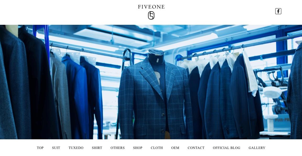オーダーメイドスーツブランド「FIVE ONE」WEB SITE製作