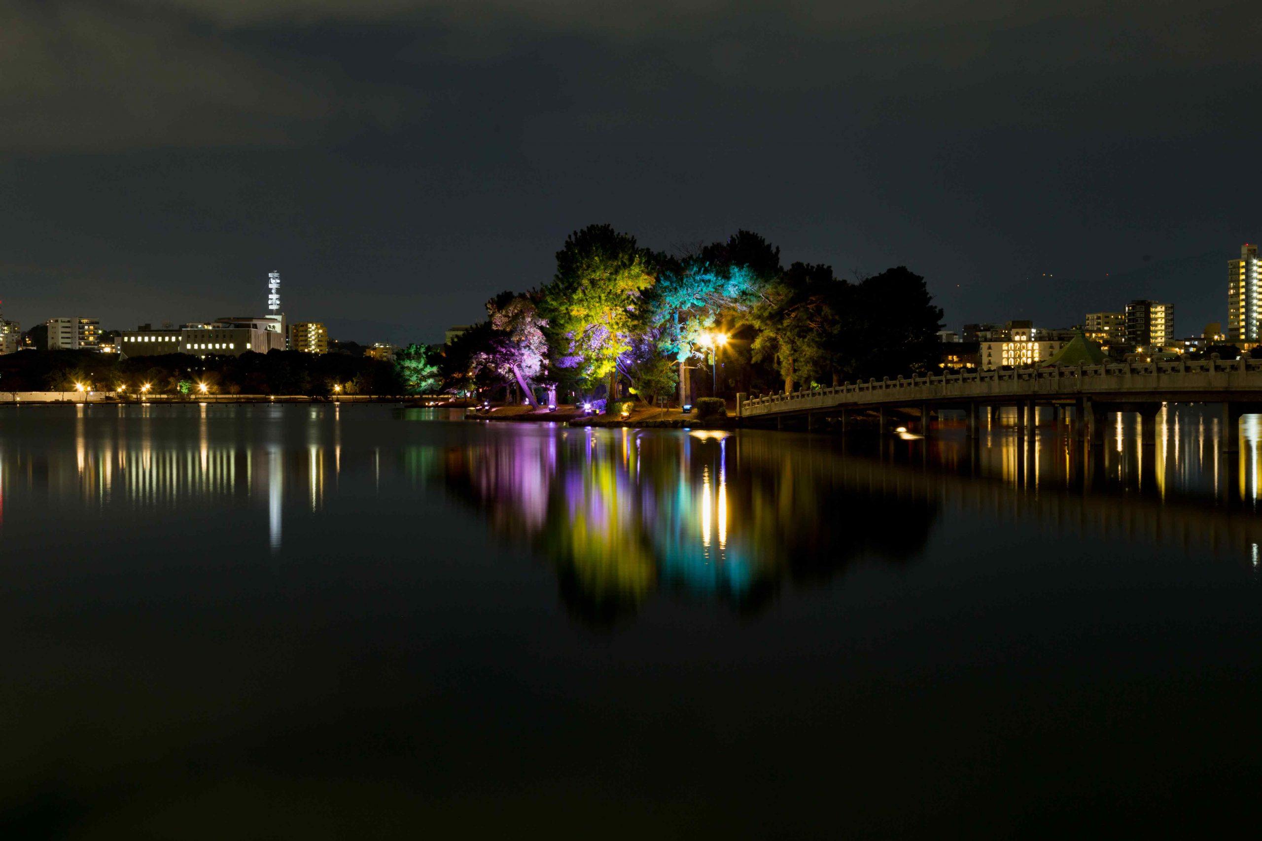 大濠公園ライトアッププロジェクト<br> LightInstallation at Ohori Park, Fukuoka-City
